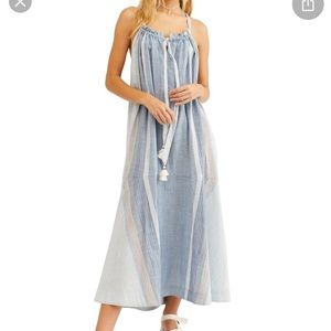 NWT Free People Paradise Striped Maxi dress